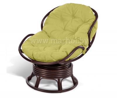 Кресло из ротанга «PAPASAN mini» 23/03B вращающееся шоколад
