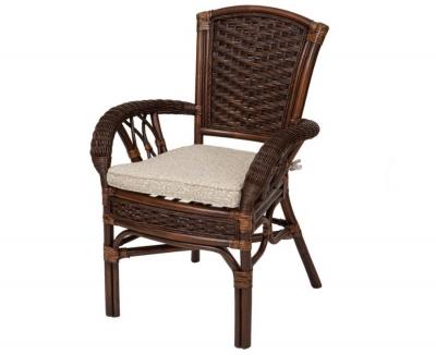ALEXA стул обеденный с подлокотником, орех