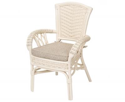 ALEXA стул обеденный с подлокотником, белый