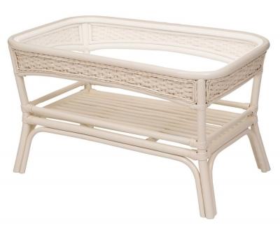 ALEXA стол кофейный прямоугольный, белый