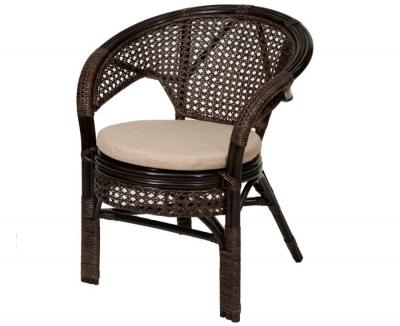 Кресло из ротанга 02/15B шоколад
