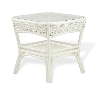 ALEXA стол кофейный квадратный, белый