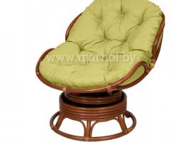 Кресло из ротанга «PAPASAN mini» 23/03B вращающееся коньяк