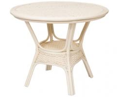ALEXA стол обеденный круглый без стекла, белый