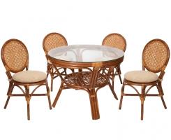 Комплект обеденный стол + 4 стула