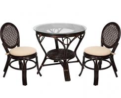 Комплект обеденный стол + 2 стула Шоколад