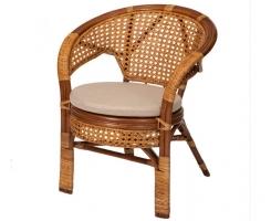 Кресло из ротанга 02/15B коньяк