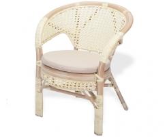 Кресло из ротанга 02/15B белый