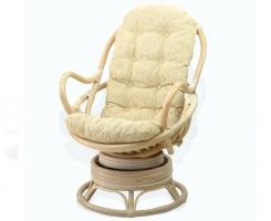 Кресло из ротанга 05/01 вращающееся белый