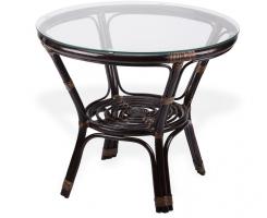 Стол со стеклом БАГАМА 01/17А шоколад