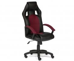 Кресло DRIVER черный/бордо