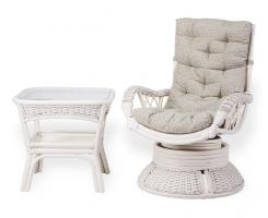 ALEXA комплект кресло вращающееся со столом, белый